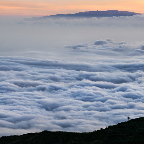 Sunset above the clouds on La Gomera, 04-2015.