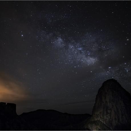 Milkyway above Los Roques, La Gomera, 04-2015.