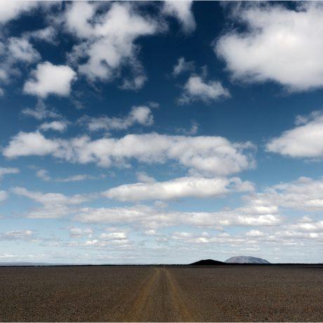 Auf dem Weg aus dem Dyngjufelldalur zeigt sich das Wetter mal wieder von seiner besten Seite