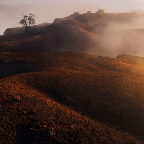 Volcanic desert on La Gomera.