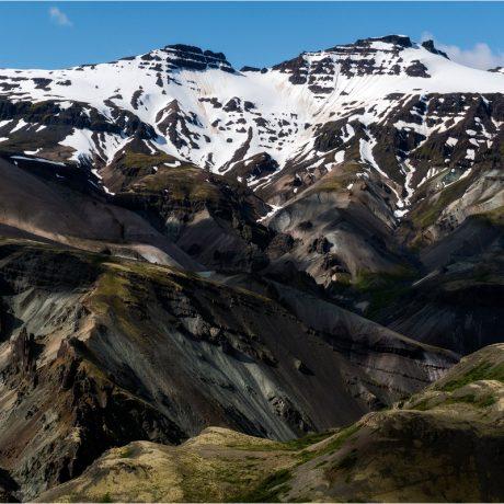Phantastische Blicke auf die Berge an der Ostseite des Vatnajökull